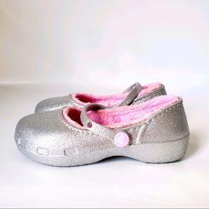 Crocs Classic Glitter Lined Maryjane Sandals
